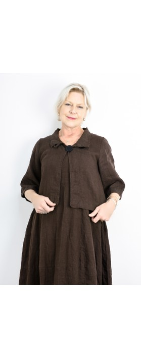 Thing Easy Fit Button Jacket Coffee