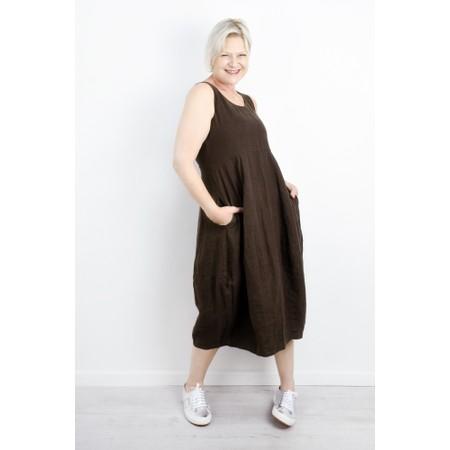 Thing Linen Sleeveless Dress - Brown