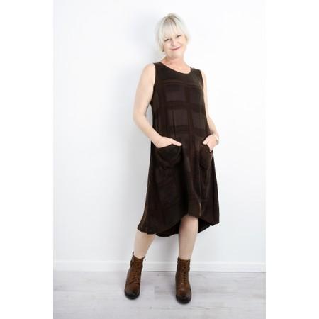 Thing  Sleeveless Pocket Dress - Brown