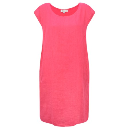 Fenella  Petra Relaxed Fit Cap Sleeve Dress - Red
