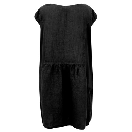 Fenella  Petra Relaxed Fit Cap Sleeve Dress - Black
