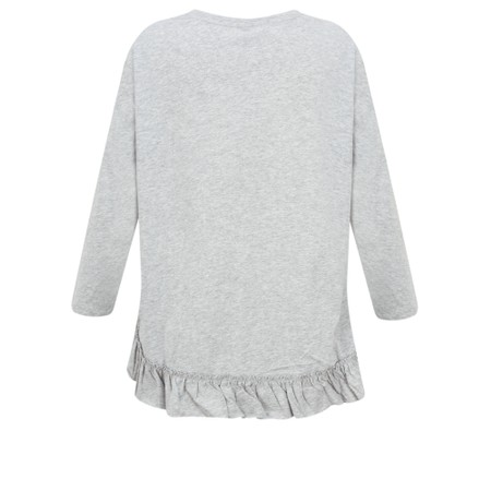 Foil First And Foremost Ruffle Tee - Metallic