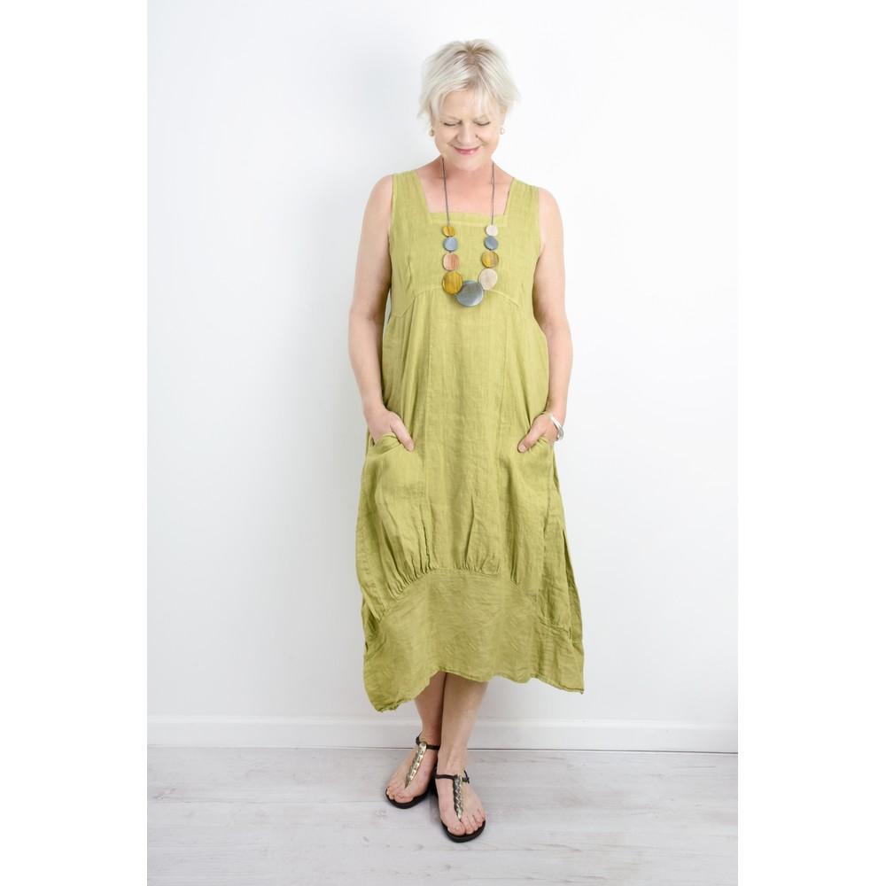 TOC Demelza Linen Dress Lime