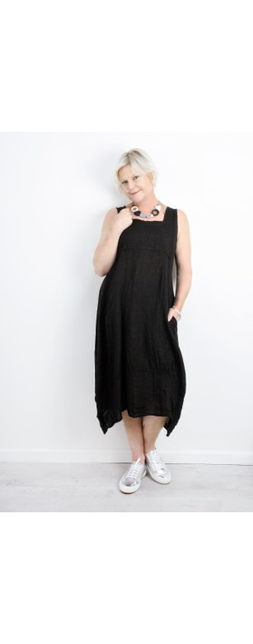 TOC Demelza Linen Dress Black