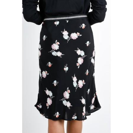 Expresso Harris Floral Print Skirt - Black