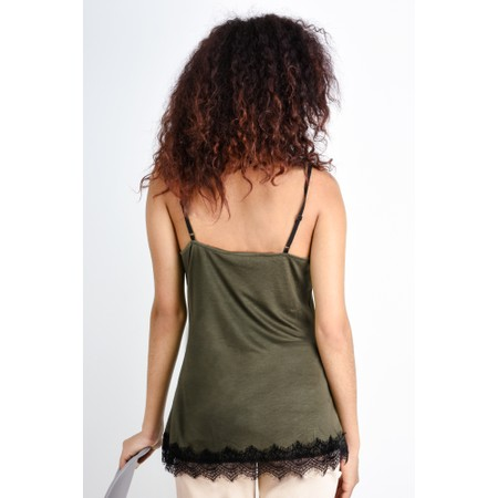 Expresso Lace Jersey Camisole  - Green