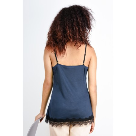 Expresso Lace Jersey Camisole  - Blue