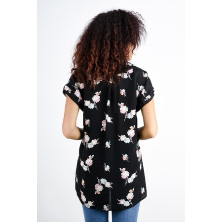 Expresso Hennie Floral Print Top - Black