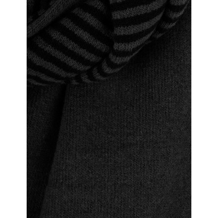 Mes Soeurs et Moi Romeo Stripe Fleece Scarf - Black