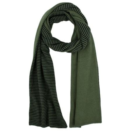 Mes Soeurs et Moi Romeo Stripe Fleece Scarf - Green