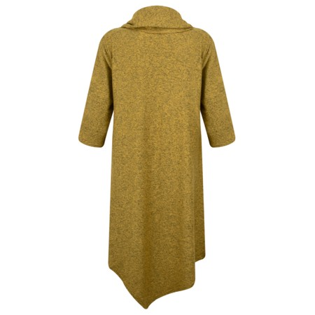 Thing Cowl Neck Long Sleeve Fleece Tunic - Yellow