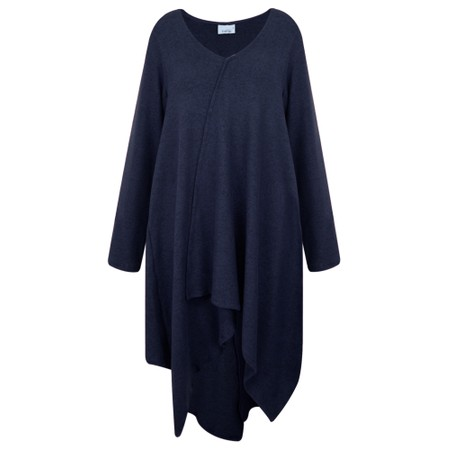 Thing Asymmetric Hem Wrap Detail Tunic  - Blue