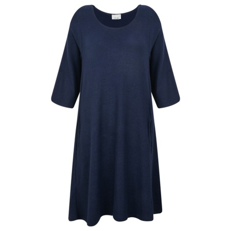 Thing Swing Pocket Fleece Dress - Blue