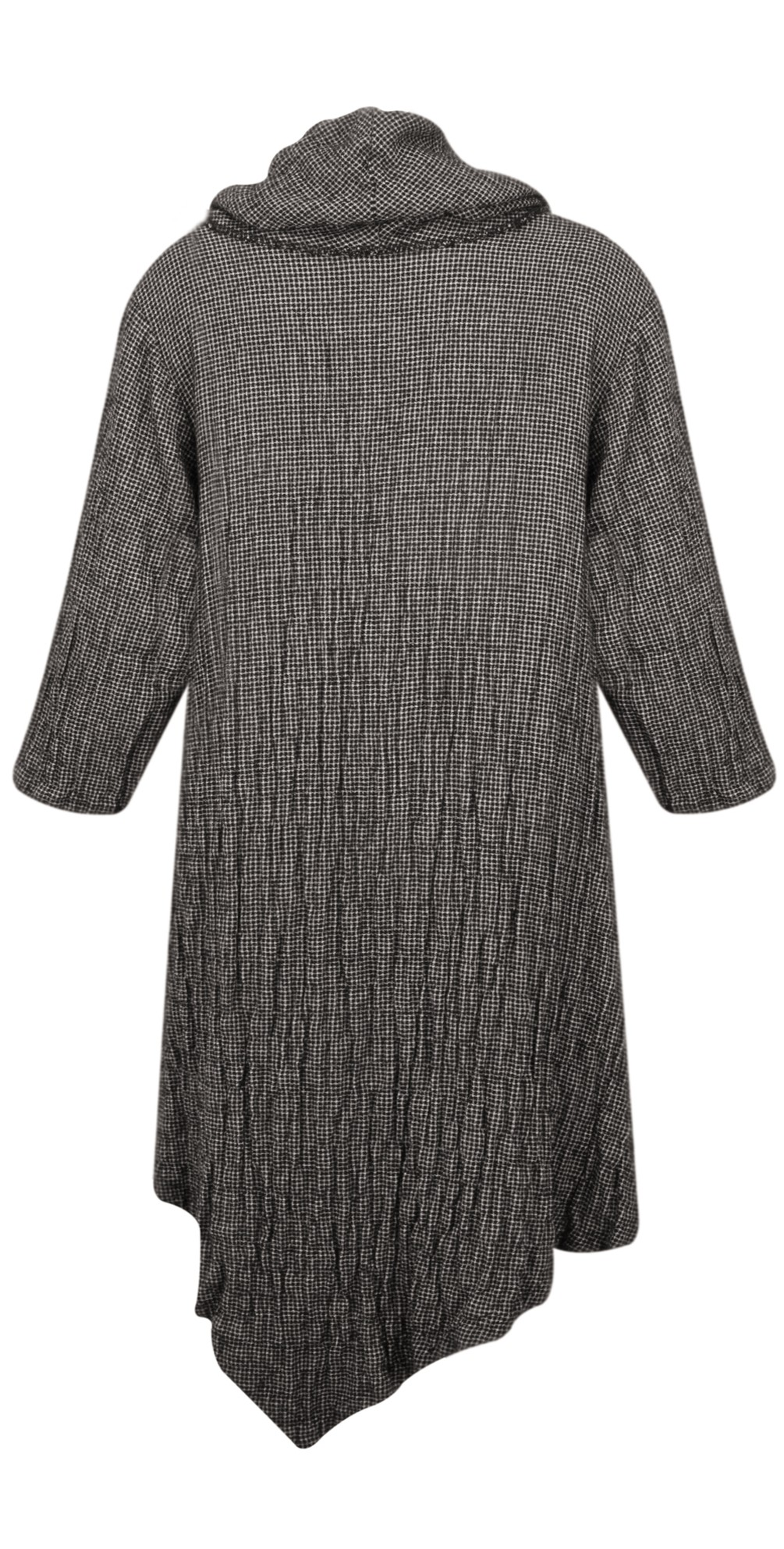 Cowl Neck Checked Print Tunic Dress main image
