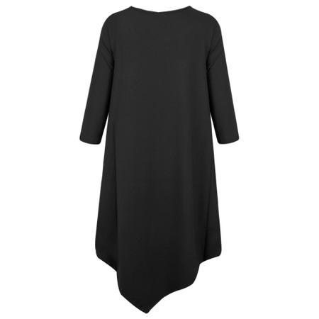 Thing Asymmetric Long Sleeve Tunic - Black