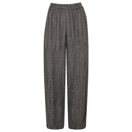 Thing Checked Print Hareem Trouser - Grey