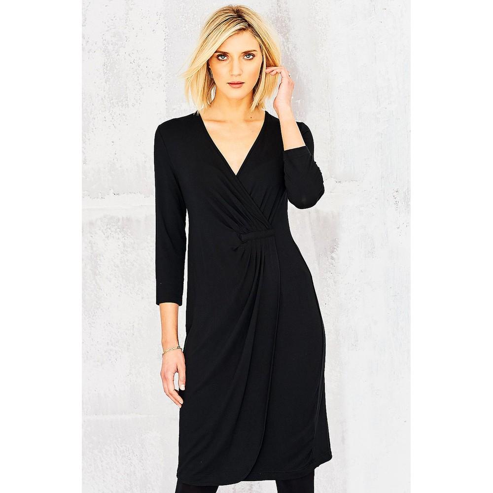 Adini Solid Lycra Gigi Dress Black