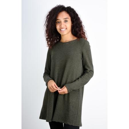 Mes Soeurs et Moi Rodeline Stripe Fleece Tunic - Green