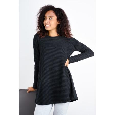 Mes Soeurs et Moi Rodeline Stripe Fleece Tunic - Black