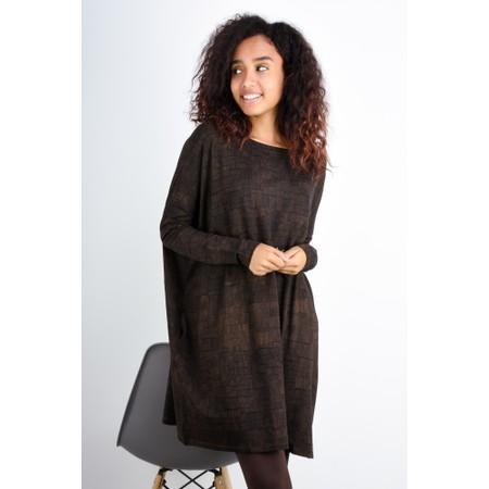 Mes Soeurs et Moi Kunfu Oversize Printed Jersey Tunic - Brown