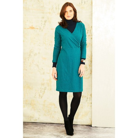 Adini Solid Cotton Slub Cammy Dress - Green