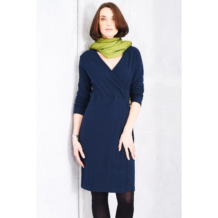 Adini Solid Cotton Slub Cammy Dress - Blue