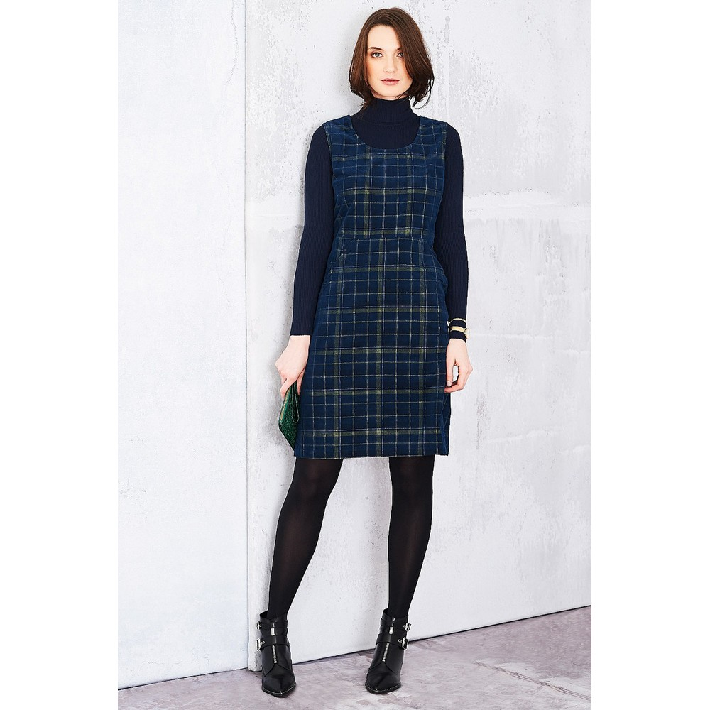 Adini Highland Check Highland Dress Navy