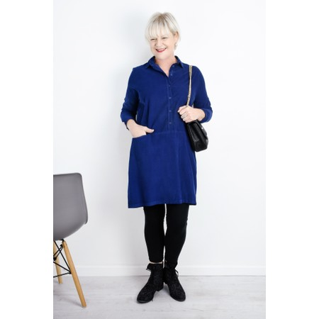Mes Soeurs et Moi Aglae Cord Shirt Dress - Blue