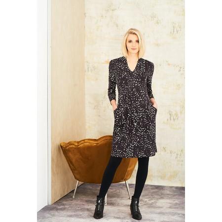 Adini Lapwing Print Lapwing Dress - Black