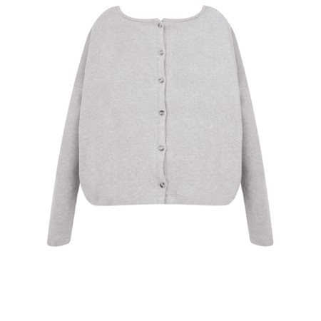 Mama B Cadice Plain Oversized Top - Grey