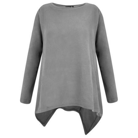 Mama B Caracas Plain Easy Fit Top - Grey