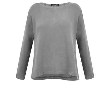 Mama B Cancun Plain Top - Grey