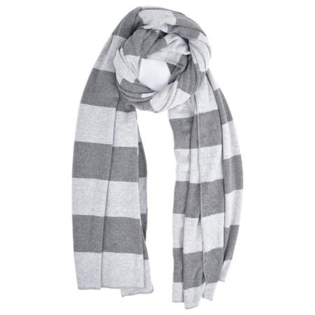 Mama B Segovia Stripe Long Scarf - Grey