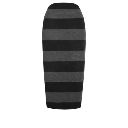 Mama B Lilla Stripe Knit Skirt - Grey