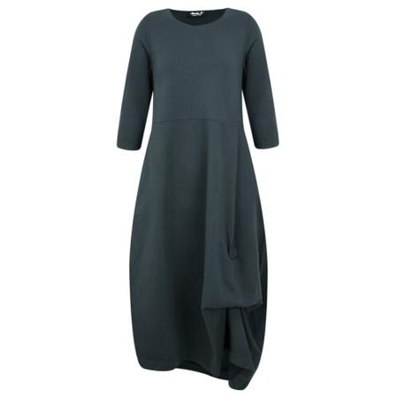 Mama B Forli Plain Jersey Dress - Grey