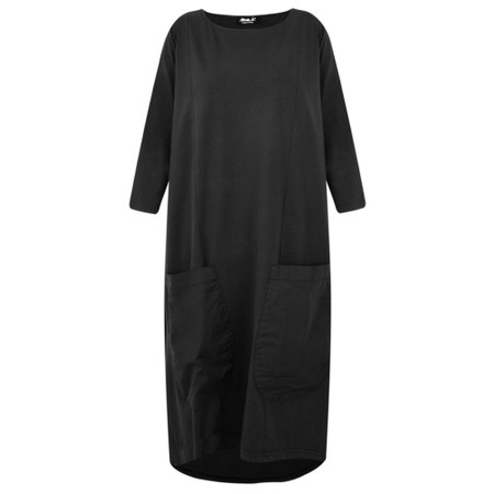 Mama B Astana Jersey Dress with Pockets - Black