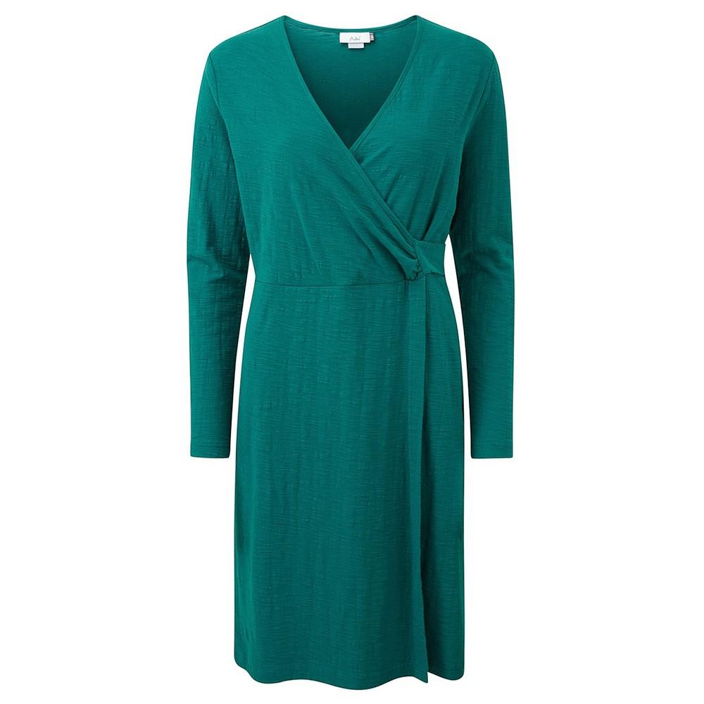 Adini Solid Cotton Slub Cammy Dress Deep Jade