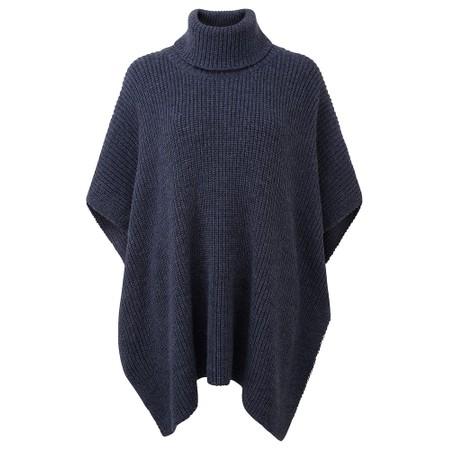 Adini Dolomite Knit Ava Poncho - Blue