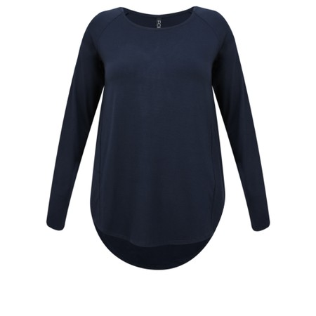 Foil Tone Up Relaxed Swing Tee - Blue