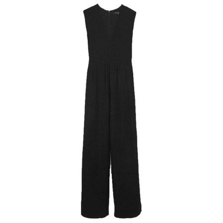 French Connection Carrabelle Crepe Pleated Jumpsuit - Black