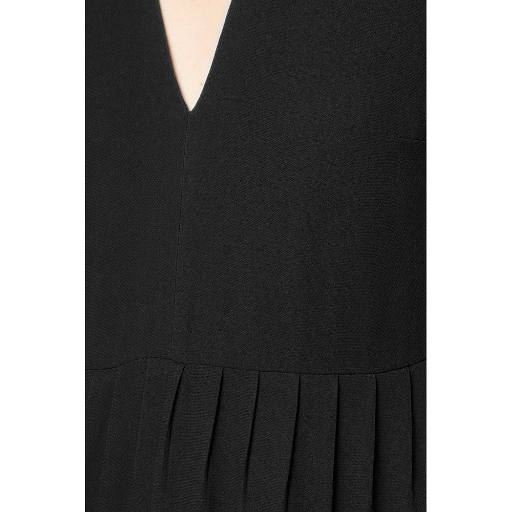 French Connection Carrabelle Crepe Pleated Jumpsuit Black