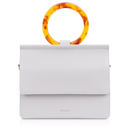 Inyati  Coco Faux Leather Loop Handle Crossbody Bag - Off-White