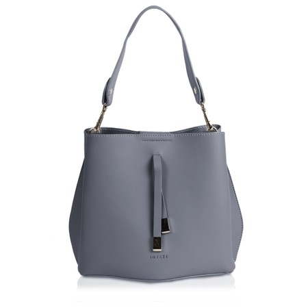 Inyati Cleo Faux Leather Bucket Bag  - Grey