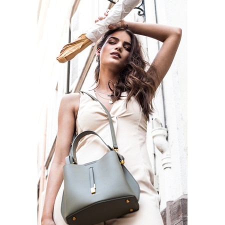 Inyati Cleo Faux Leather Bucket Bag  - Green