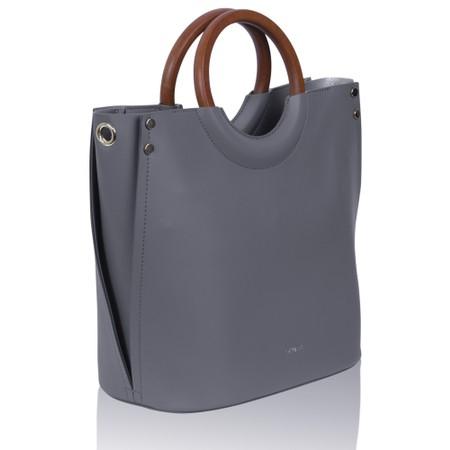Inyati Viviana Faux Leather Top Handle Bag - Grey