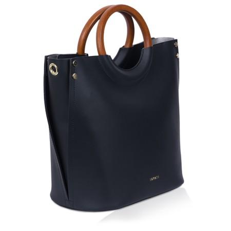 Inyati Viviana Faux Leather Top Handle Bag - Black
