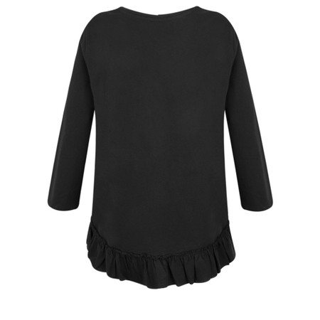 Foil First And Foremost Ruffle Tee - Black