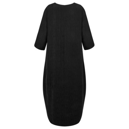 Thing Long Sleeve Balloon Dress - Black