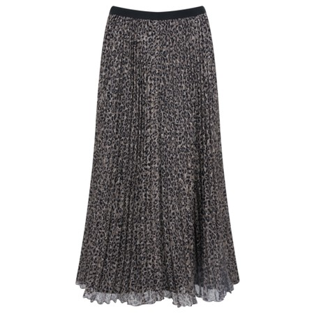 French Connection Animal Pleated Midi Skirt - Multicoloured