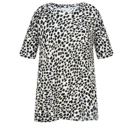 Great Plains Cara Leopard Short Sleeve Tee - Beige